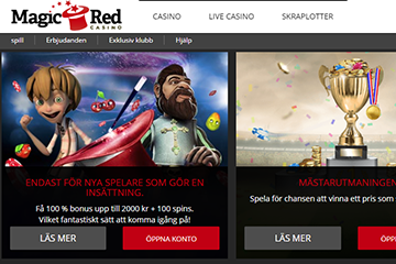 magicred casino screen